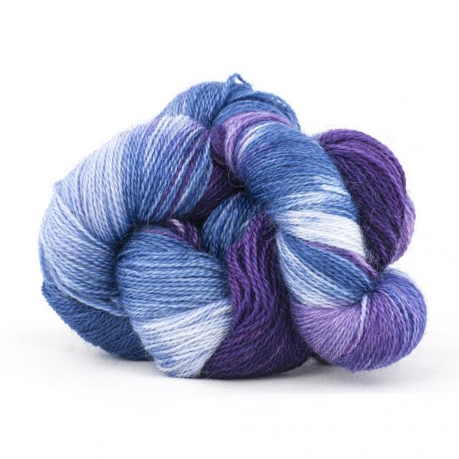Cowgirl Blues Mohair Wool 2ply Lace Farbverlauf VioletLilacIcedberryTanzanite
