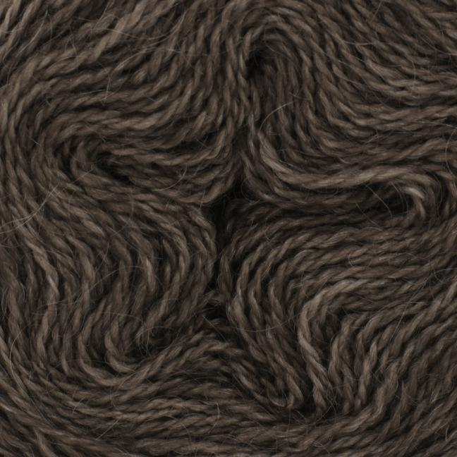 Cowgirl Blues Mohair Wool 2ply Lace (25g) solids Coffee Bean