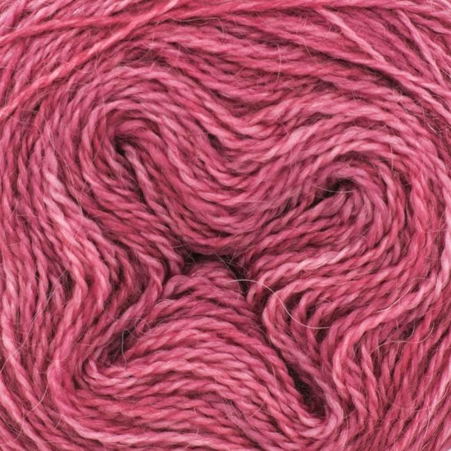 Cowgirl Blues Mohair Wool 2ply Lace (25g) solids Dusty Rose