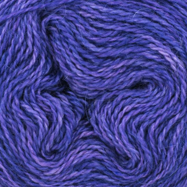 Cowgirl Blues Mohair Wool 2ply Lace (25g) solids Blueberry