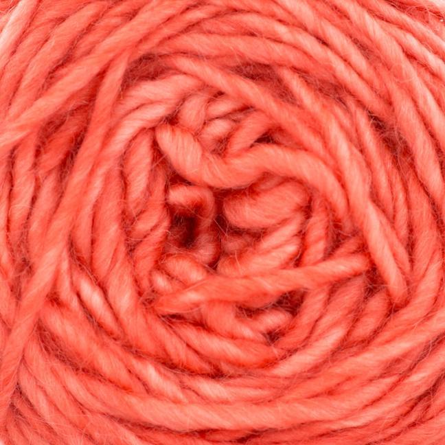 Cowgirl Blues Aran Single (100g) solids Ruby Grapefruit