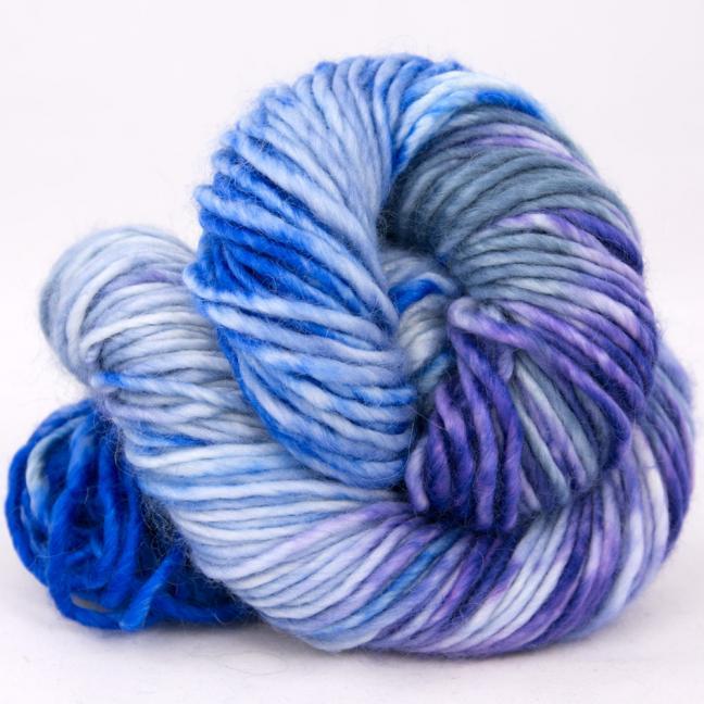 Cowgirl Blues Aran Single Farbverlauf (100g) CobaltAirforceBlueberryIcedberry