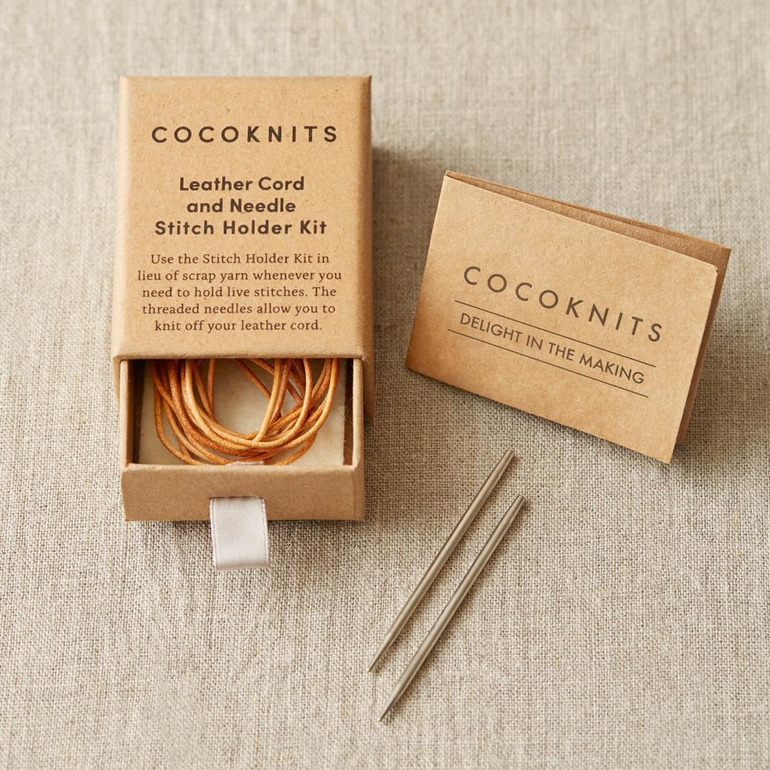 CocoKnits Leather Cord and Needle Kit  Maschenhalter Lederband mit Nadel
